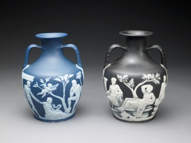 Portland Vase Copy. Wedgwood, about 1790. Stoneware (jasperware). The Dwight and Lucille Beeson Wedgwood Collection.